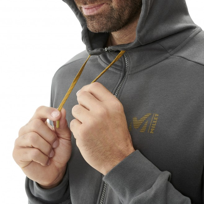 Men's urban look sweatshirt - yellow MILLET SWEAT ZIP HOODIE Millet 5