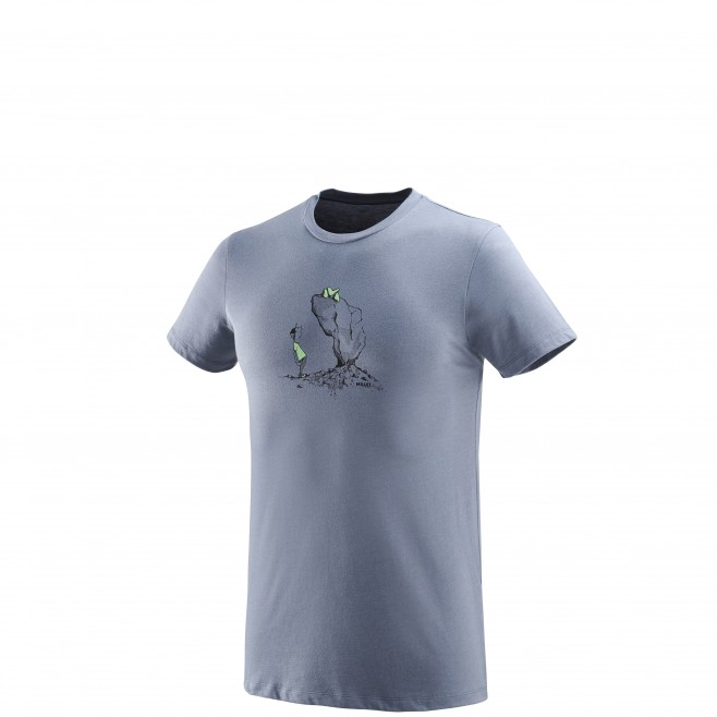 Men's short sleeves t-shirt - climbing - blue WAY UP TS SS Millet