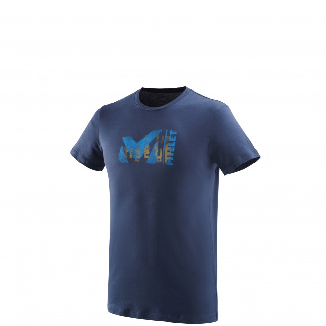 Men's short sleeves t-shirt - climbing - navy-blue MILLET PAINT TS SS Millet