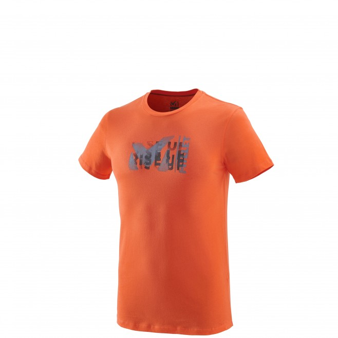 Men's short sleeves t-shirt - climbing - orange MILLET PAINT TS SS Millet