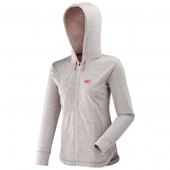 Women's urban look sweat - climbing - grey LD HAUKKA LIGHT SWEAT HOODIE LS Millet