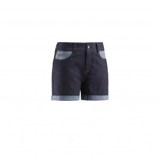 Women's short - climbing - navy-blue LD ROCAS BIO DENIM SHORT Millet