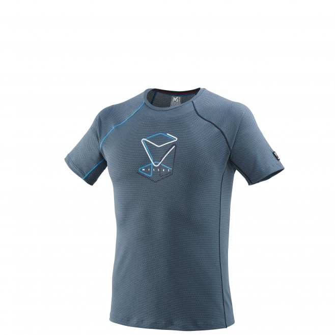 Men's short sleeves t-shirt - mountaineering - blue TRILOGY DELTA CUBE TS SS Millet
