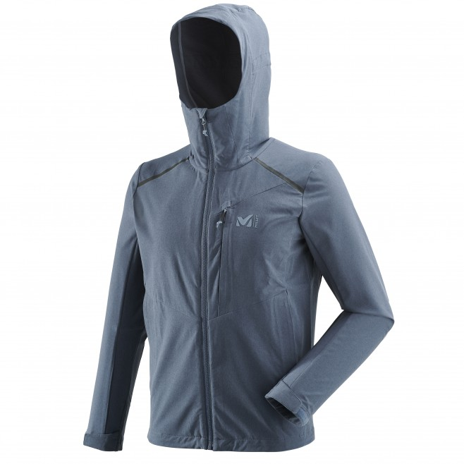 Men's softshell jacket - hiking - blue TAHOE STRETCH JKT Millet