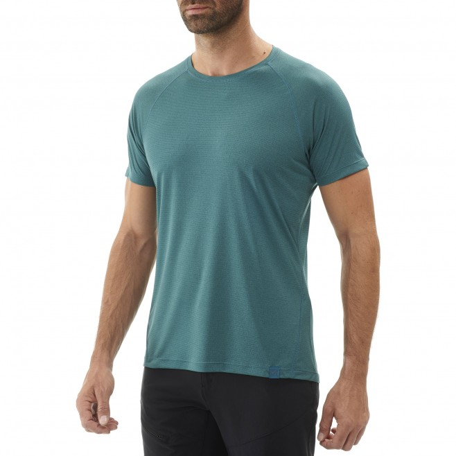 Men's short sleeves t-shirt - hiking - green ISEO TS SS Millet 2