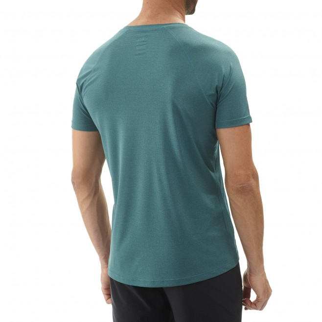 Men's short sleeves t-shirt - hiking - green ISEO TS SS Millet 3