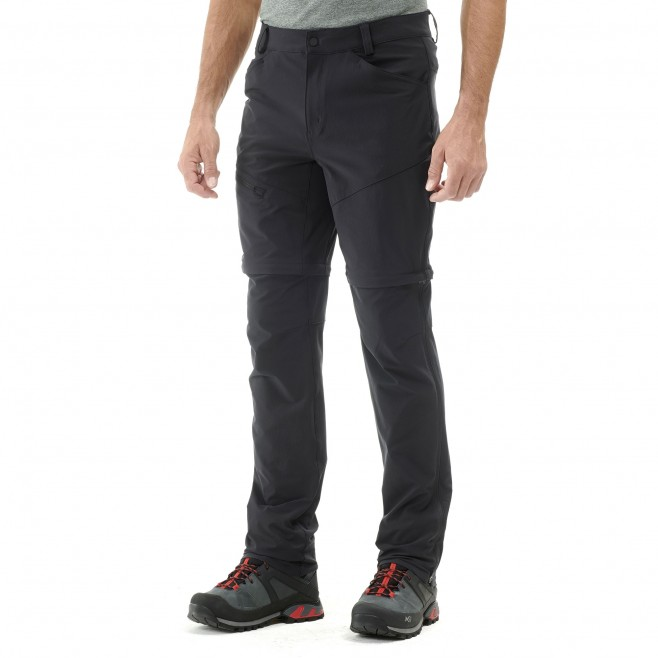 Men's zip-off pant - hiking - black TREKKER STRETCH ZIP OFF PANT II Millet 2