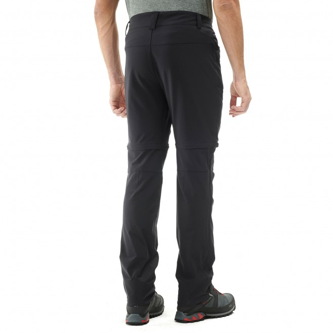 Men's zip-off pant - hiking - black TREKKER STRETCH ZIP OFF PANT II Millet 3