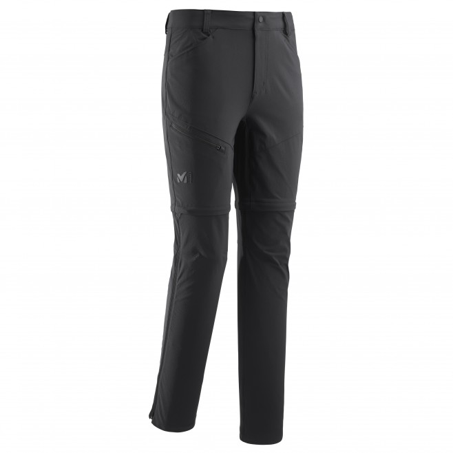 Men's zip-off pant - hiking - black TREKKER STRETCH ZIP OFF PANT II Millet