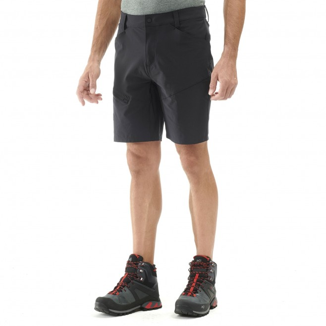 Men's short - hiking - black TREKKER STRETCH SHORT II Millet 2