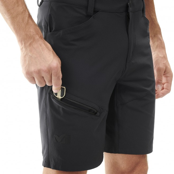 Men's short - hiking - black TREKKER STRETCH SHORT II Millet 4