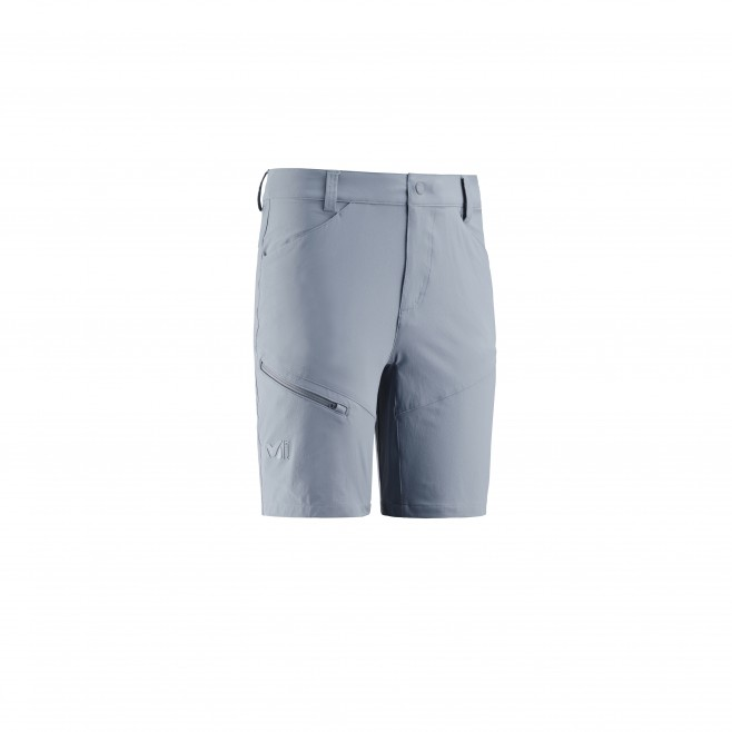 Men's short - hiking - blue TREKKER STRETCH SHORT II Millet
