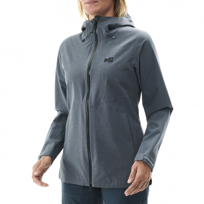 Women's waterproof jacket - navy-blue LD ABAYA STRETCH JKT Millet 4