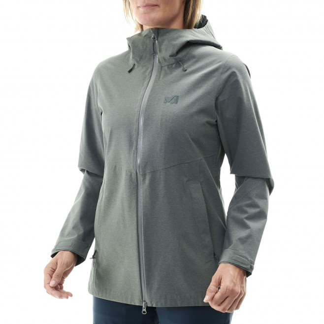 Women's waterproof jacket - khaki LD ABAYA STRETCH JKT Millet 4