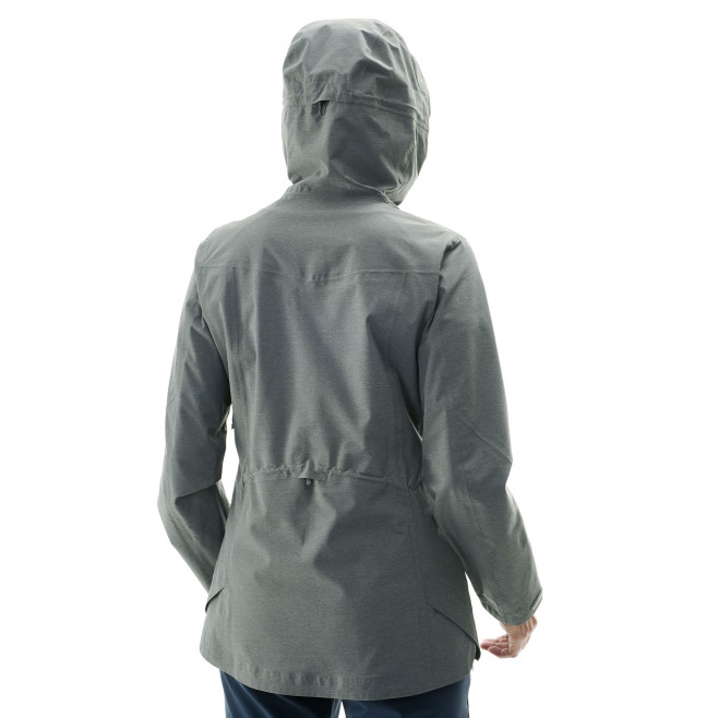 Women's waterproof jacket - khaki LD ABAYA STRETCH JKT Millet 7