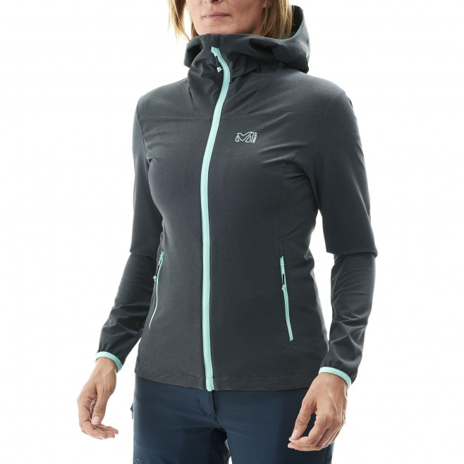 Women's softshell jacket - hiking - blue LD TAHOE STRETCH JKT Millet 2