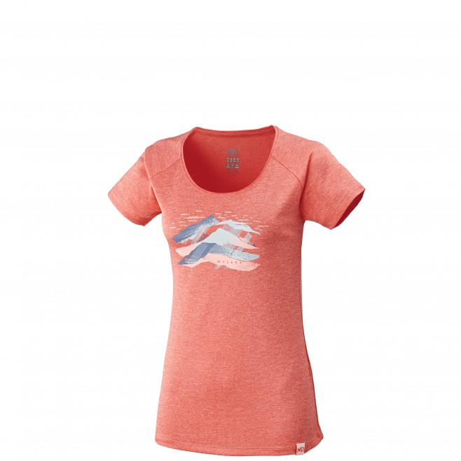 Women's short sleeves t-shirt - hiking - pink LD COME TS SS Millet