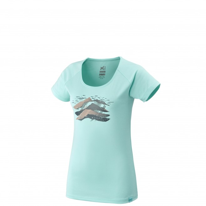 Women's short sleeves t-shirt - hiking - turquoise LD COME TS SS Millet