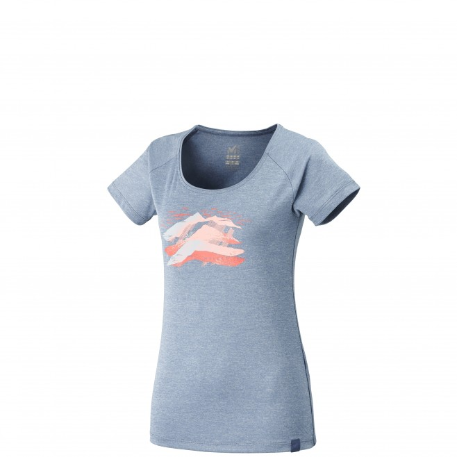 Women's short sleeves t-shirt - hiking - blue LD COME TS SS Millet