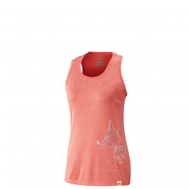 Women's tank top - hiking - pink LD BOREN TANK Millet