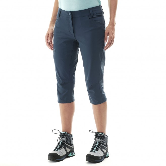 Women's pant - hiking - navy-blue LD TREKKER STRETCH 3/4 PANT II Millet 2