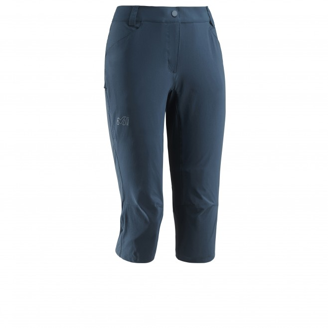 Women's pant - hiking - navy-blue LD TREKKER STRETCH 3/4 PANT II Millet