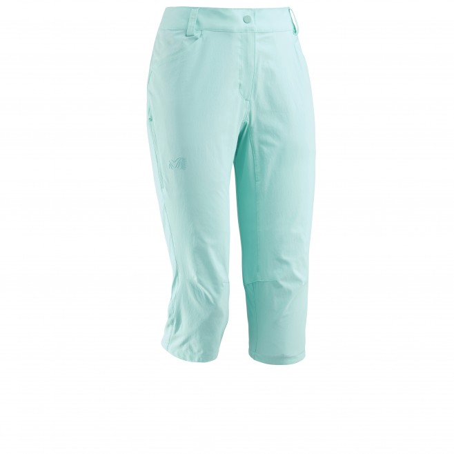 Women's pant - hiking - turquoise LD TREKKER STRETCH 3/4 PANT II Millet