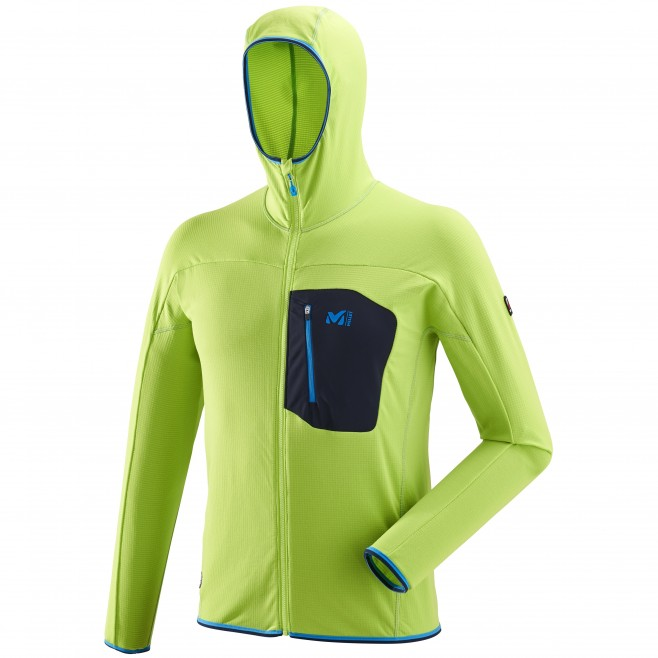 Men's lightweight fleecejacket - green TRILOGY LIGHTGRID HOODIE M Millet
