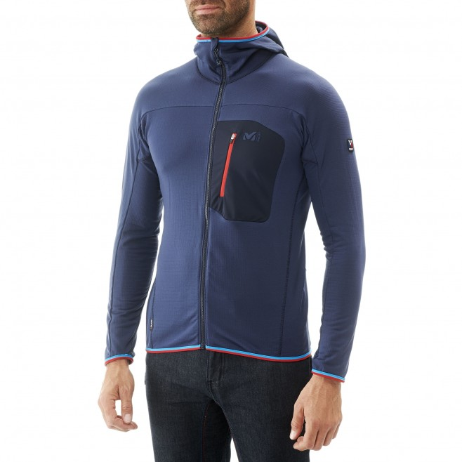 Men's lightweight fleecejacket - mountaineering - navy-blue TRILOGY LIGHTGRID HOODIE Millet 2
