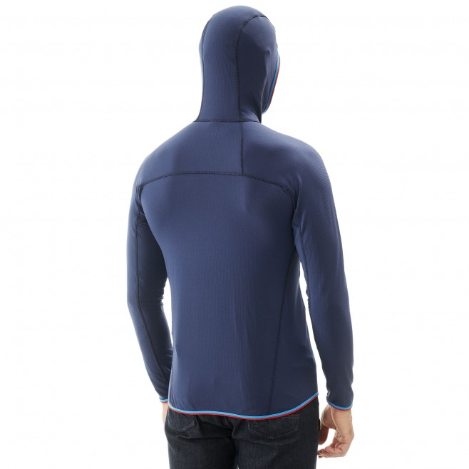 Men's lightweight fleecejacket - mountaineering - navy-blue TRILOGY LIGHTGRID HOODIE Millet 3