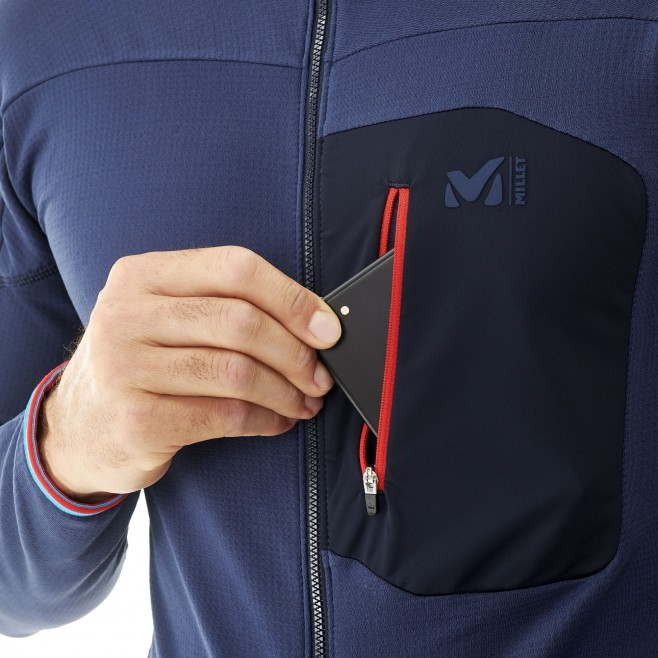 Men's lightweight fleecejacket - mountaineering - navy-blue TRILOGY LIGHTGRID HOODIE Millet 4