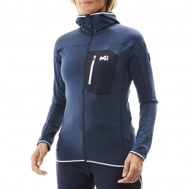 Women's fleecejacket - navy-blue TRILOGY LIGHTGRID HOODIE W Millet 2