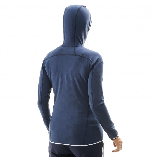 Women's fleecejacket - navy-blue TRILOGY LIGHTGRID HOODIE W Millet 3
