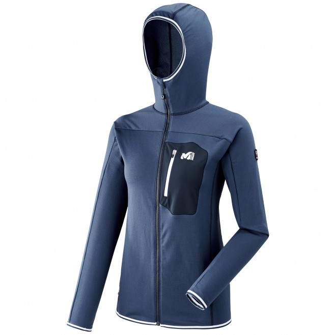 Women's fleecejacket - navy-blue TRILOGY LIGHTGRID HOODIE W Millet