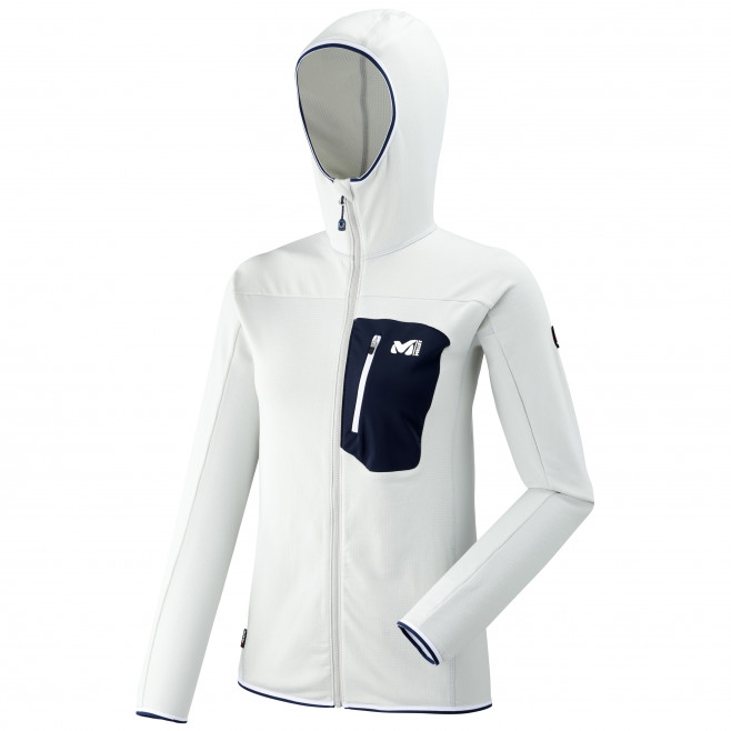 Women's lightweight fleecejacket - grey LD TRILOGY LIGHTGRID HOODIE Millet
