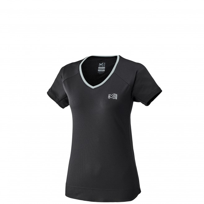 Women's short sleeves t-shirt - mountaineering - black LD ROC TS SS Millet