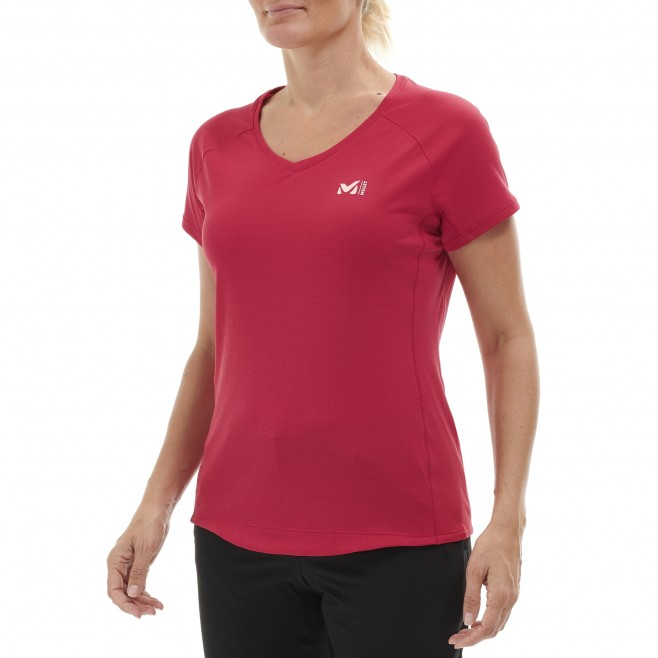 Women's short sleeves t-shirt - mountaineering - pink LD ROC TS SS Millet 2