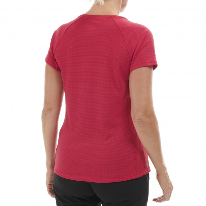 Women's short sleeves t-shirt - mountaineering - pink LD ROC TS SS Millet 3
