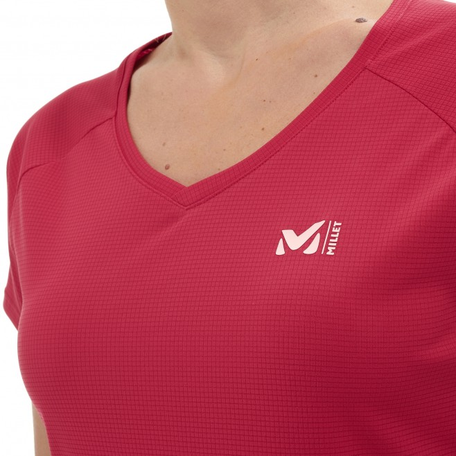Women's short sleeves t-shirt - mountaineering - pink LD ROC TS SS Millet 4