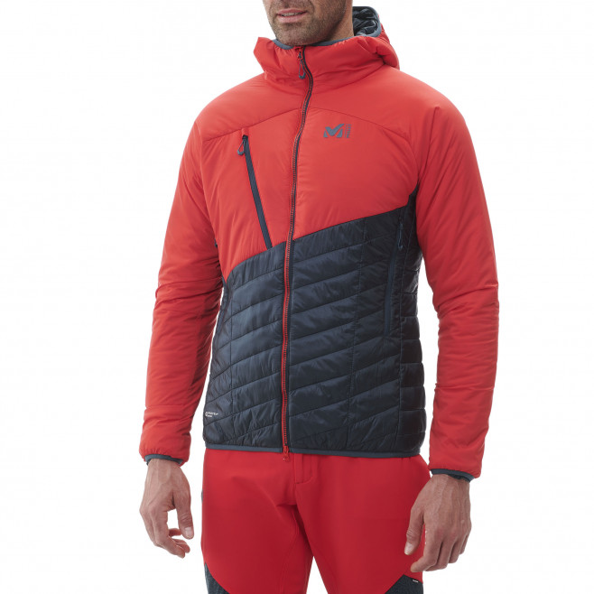 Men's very warm jacket - red ELEVATION AIRLOFT HOODIE M Millet 2