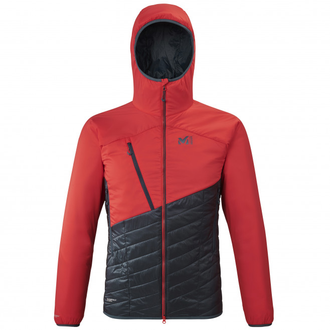 Men's very warm jacket - red ELEVATION AIRLOFT HOODIE M Millet