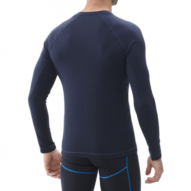 Men's long sleeves tee-shirt - navy-blue TRILOGY WOOL CUBE TS LS M Millet 3
