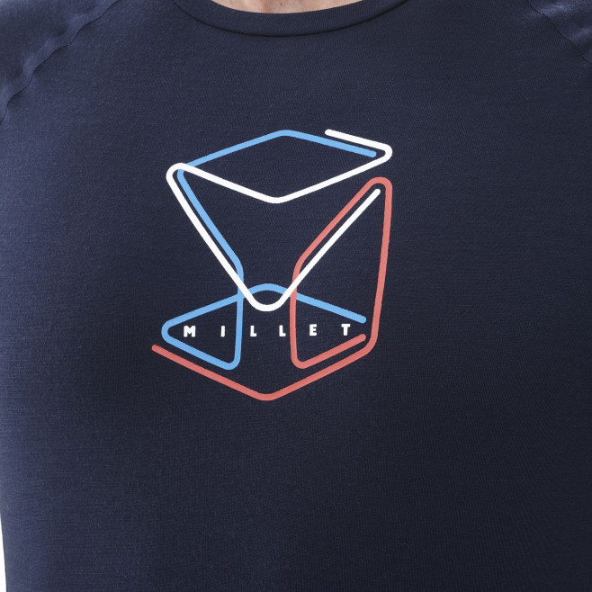 Men's long sleeves tee-shirt - navy-blue TRILOGY WOOL CUBE TS LS M Millet 4