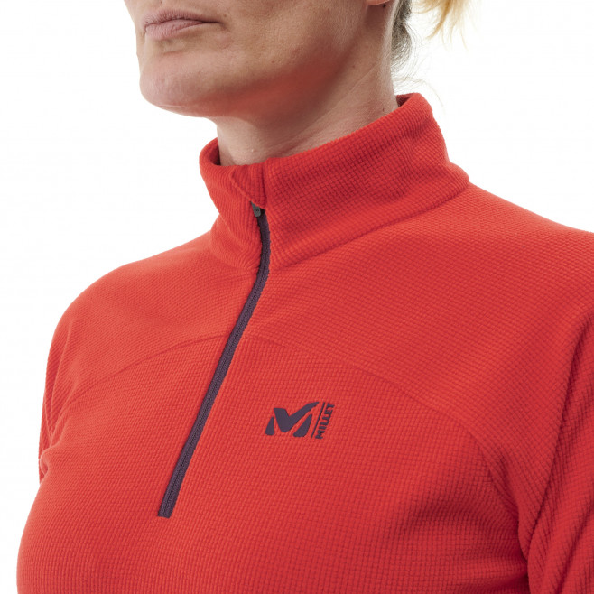 Women's lightweight fleecejacket - red K Ltgrid Jkt W Fire Millet 4