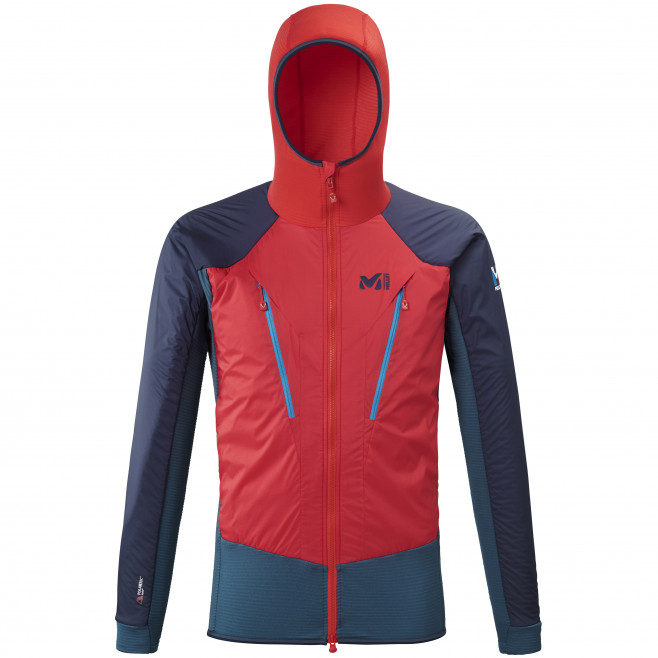 Men's very warm jacket - red TRILOGY HYBRID ALPHA HOODIE M Millet