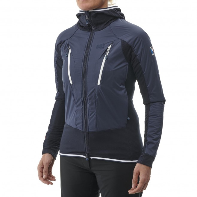 Women's fleecejacket - navy-blue TRILOGY HYBRID ALPHA HOODIE W Millet 2