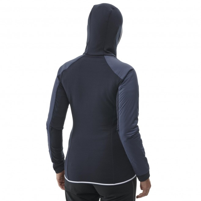 Women's fleecejacket - navy-blue TRILOGY HYBRID ALPHA HOODIE W Millet 3