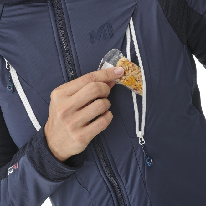 Women's fleecejacket - navy-blue TRILOGY HYBRID ALPHA HOODIE W Millet 4