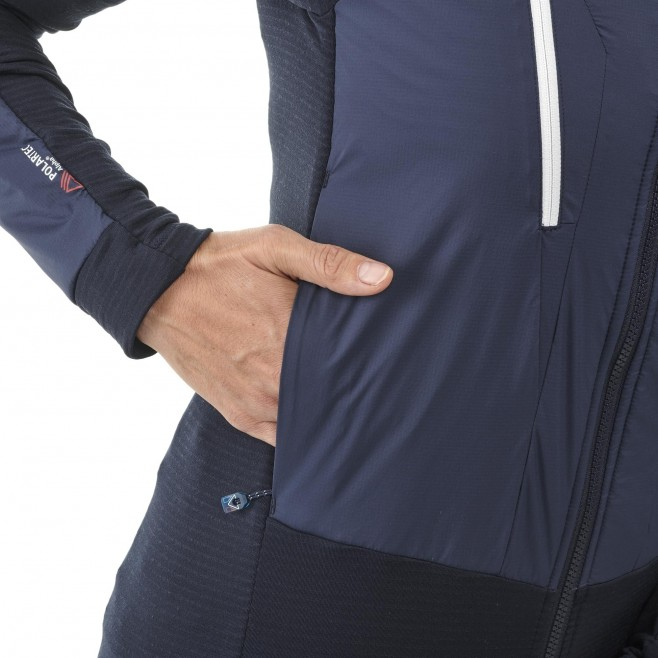 Women's fleecejacket - navy-blue TRILOGY HYBRID ALPHA HOODIE W Millet 5