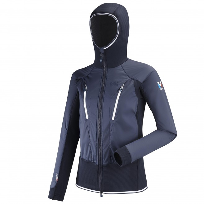 Women's fleecejacket - navy-blue TRILOGY HYBRID ALPHA HOODIE W Millet
